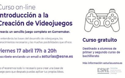 Curso on-line de Introducción a la Creación de Videojuegos en ESNE Asturias